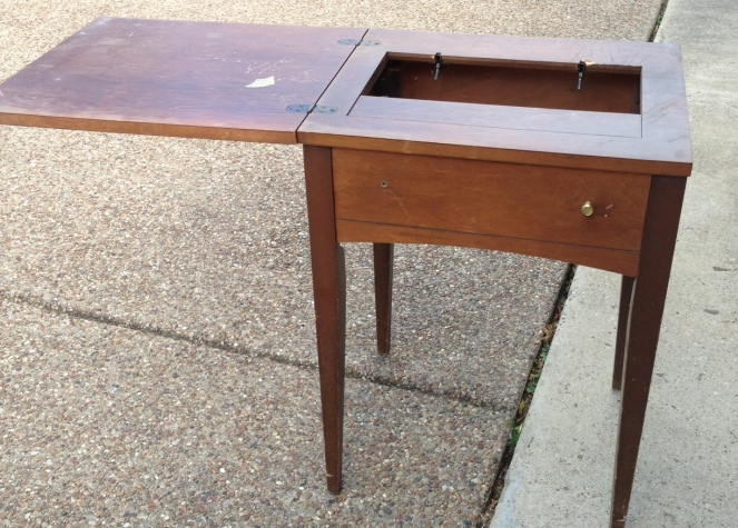 vintage sewing table